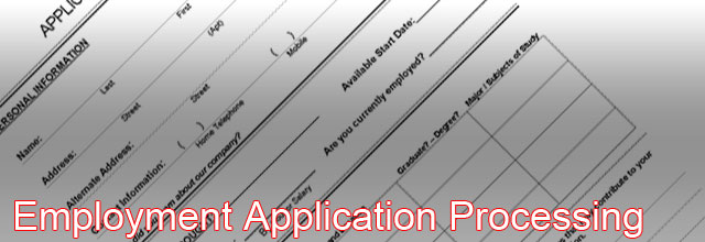 employment application processing
