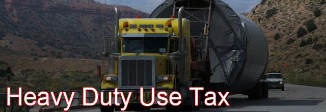 heavy duty use tax